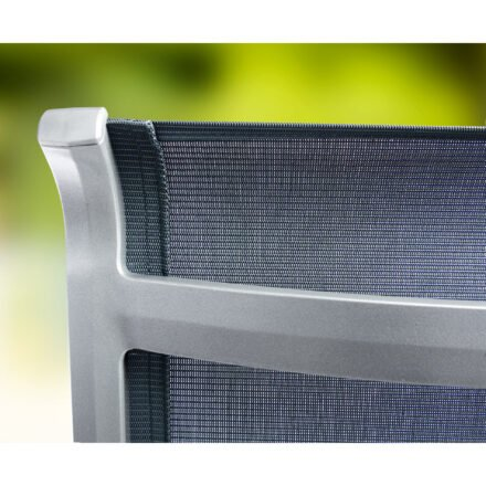 "Sieger ""Calvi"" Klappsessel, Gestell Aluminium graphit, Textilgewebe grau"