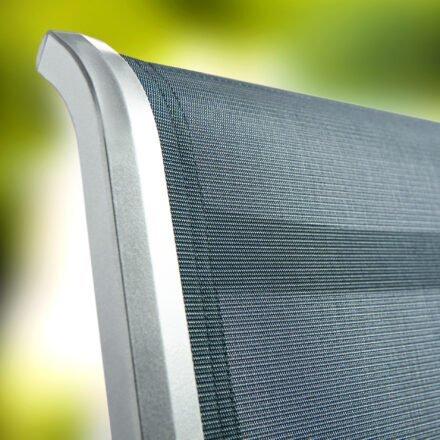 "Stapelsessel ""Calvi"" von Sieger, Gestell Aluminium graphit, Textilgewebe grau"