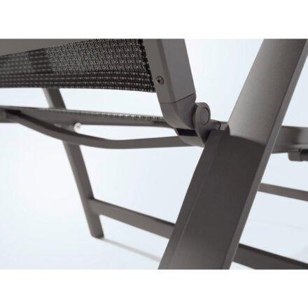 "Sieger ""Catena"" Klappsessel, Gestell Aluminium eisengrau, Sitzfläche Textilux grau"