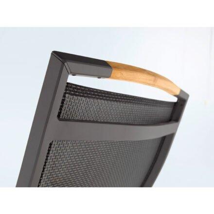"Sieger ""Catena"" Klappsessel, Gestell Aluminium eisengrau, Sitzfläche Textilux grau, Rückansicht"