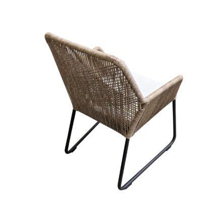 """SIT Mobilia """"Allanis"""" Gartenstuhl, Gestell Aluminium eisengrau, Polyrattan-Geflecht Twisted beige, Kissen beige"""
