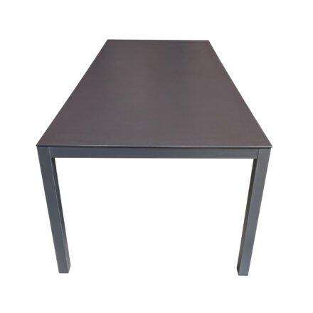 """SIT Mobilia """"Flex Plus"""" Gartentisch, Gestell Stahl eisengrau lackiert, Tischplatte Dekton Sirius"""