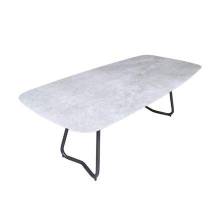 """SIT Mobilia """"Jura-Delemont"""" Gartentisch, Gestell Stahl eisengrau lackiert, Tischplatte Dekton Soke"""
