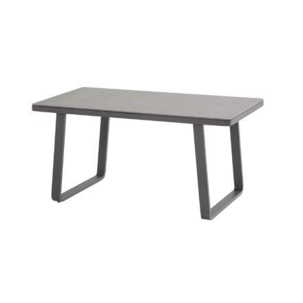 """4Seasons Outdoor """"Flexx Cosy"""" Dining-Tisch 140x80 cm, Alu Anthrazit, Tischplatte Spraystone"""