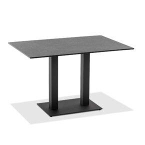 """Niehoff Tisch """"Bistro"""", Gestell Stahl anthrazit, Tischplatte HPL Granit-Design, eckig"""