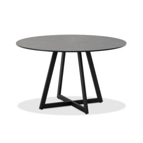 """Niehoff """"Milan"""" Gartentisch, Gestell Stahl anthrazit, Tischplatte HPL Granit"""