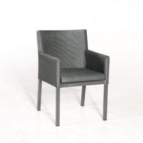 "SonnenPartner ""Coast"" Dining-Sessel, Gestell Aluminium anthrazit, Sitzfläche Polstertextilen anthrazit"