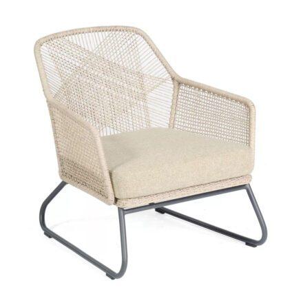"""SonnenPartner """"Couture"""" Loungesessel, Gestell Aluminium, Kunststoffgeflecht white-shell, Kissen white-shell"""