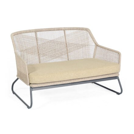 """SonnenPartner """"Couture"""" Loungesofa, Gestell Aluminium, Kunststoffgeflecht white-shell, Kissen white-shell"""