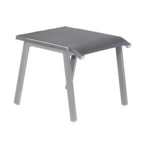"SonnenPartner ""Fresno"" Gartenhocker, Gestell Aluminium, Sitzfläche Textilgewebe anthrazit"