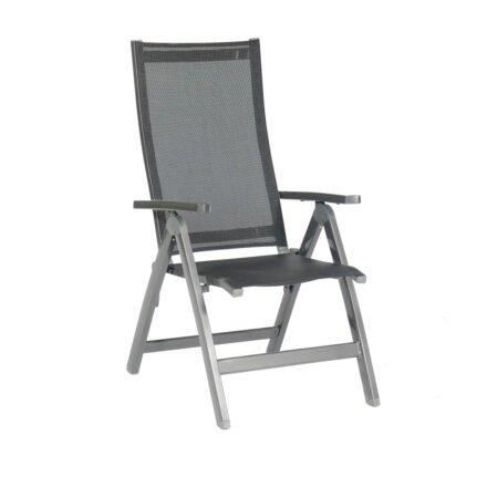 """SonnenPartner """"Fresno"""" Klappsessel, Gestell Aluminium anthrazit, Sitzfläche Textilgewebe schwarz"""