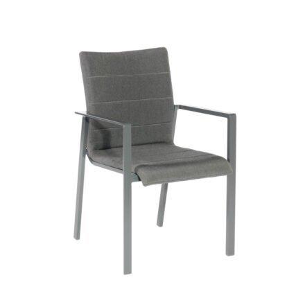 "SonnenPartner ""Kingdom"" Stapelsessel, Gestell Aluminium anthrazit, Sitzfläche Sunbrella® anthrazit"