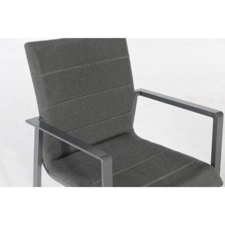"SonnenPartner ""Kingdom"" Stapelsessel, Gestell Aluminium anthrazit, Sitzfläche Sunbrella® anthrazit, Detail Sitzfläche"