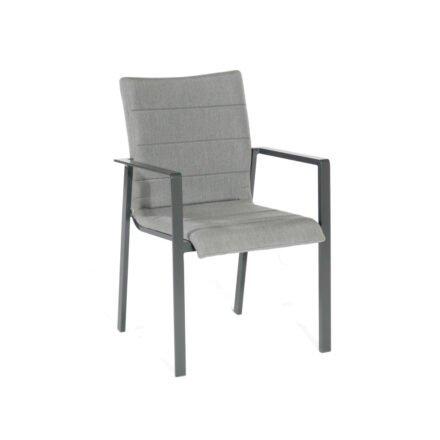 "SonnenPartner ""Kingdom"" Stapelsessel, Gestell Aluminium anthrazit, Sitzfläche Sunbrella® flanelle"