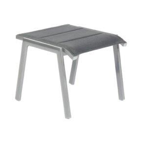 """SonnenPartner """"Sierra"""" Gartenhocker, Gestell Aluminium anthrazit, Sitzfläche Polstertextilen schwarz"""