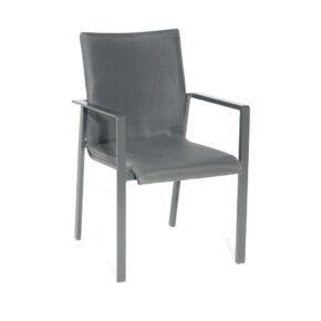 "SonnenPartner ""West"" Stapelsessel, Gestell Aluminium anthrazit, Sitzfläche Textilen anthrazit"