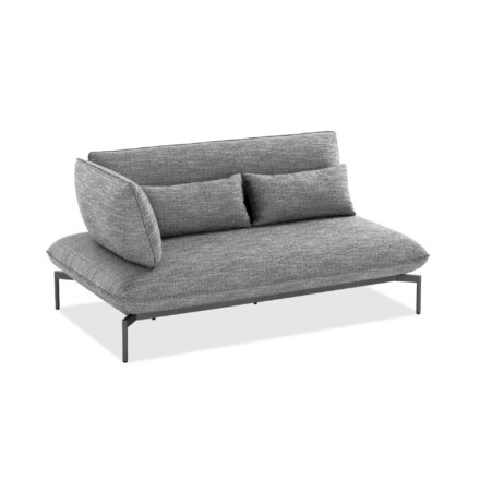 "Niehoff ""Valencia"" 2-Sitzer Loungesofa links, Gestell Aluminium anthrazit, Polster Outdoor-Gewebe Horizon anthrazit"