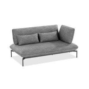 "Niehoff ""Valencia"" 2-Sitzer Loungesofa rechts, Gestell Aluminium anthrazit, Polster Outdoor-Gewebe Horizon anthrazit"