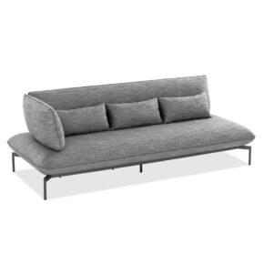 "Niehoff ""Valencia"" 3-Sitzer Loungesofa links, Gestell Aluminium anthrazit, Polster Outdoor-Gewebe Horizon anthrazit"