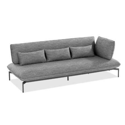 "Niehoff ""Valencia"" 3-Sitzer Loungesofa rechts, Gestell Aluminium anthrazit, Polster Outdoor-Gewebe Horizon anthrazit"