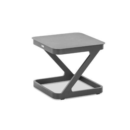 "Niehoff ""Quattro"" Beistelltisch, Aluminium anthrazit, 52x52 cm"