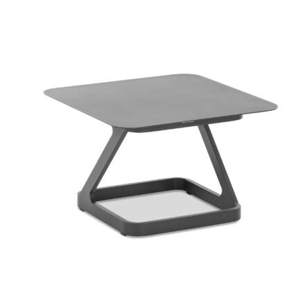 "Niehoff ""Quattro"" Beistelltisch, Aluminium anthrazit, 70x70 cm"