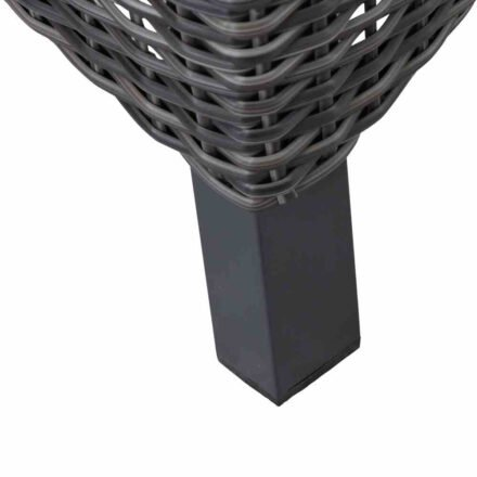 """Siena Garden """"Corido"""" Diningsessel, Gestell Aluminium anthrazit matt, Geflecht charcoal grey, Detail Fuß"""