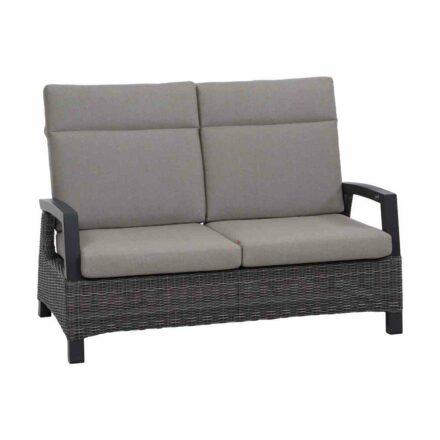 """Siena Garden """"Corido"""" Loungesofa 2-Sitzer, Gestell Aluminium anthrazit matt, Geflecht charcoal grey, Polster taupe meliert"""