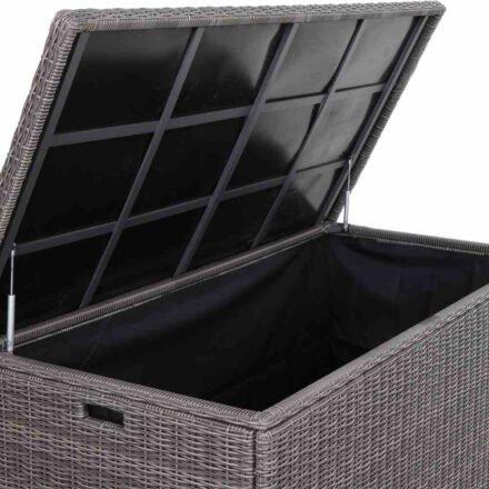 """Siena Garden """"Corido"""" Kissenbox, Gestell Aluminium, Geflecht charcoal grey"""