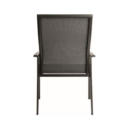 "Stern ""Kari+"" Stapelsessel, Gestell Aluminium anthrazit, Sitzfläche Textilgewebe karbon"
