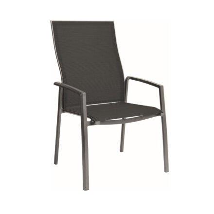 "Stern ""Kari+"" Stapelsessel, Gestell Aluminium graphit, Sitzfläche Textilgewebe silbergrau"
